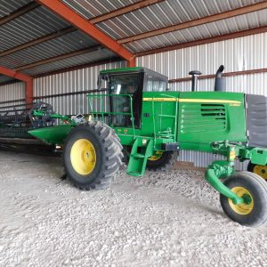 Lot 39: 2013 JD D450 Windrower Swather another view