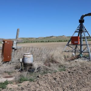 Irrigation well at pivot point