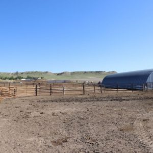 Quonset shed and feeding area at improvements