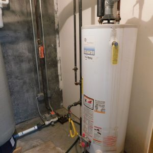#10 - Hot water heater in utility room
