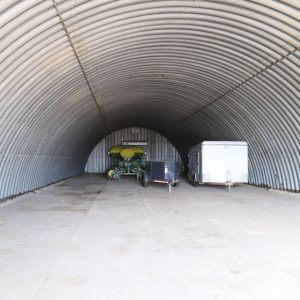 Parcel #10 - Interior of quonset shed